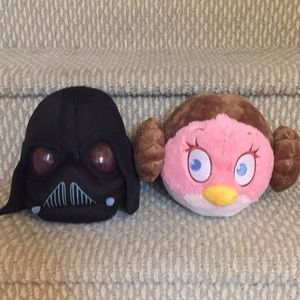 Angry Birds Star Wars Plush - Leia and Vader